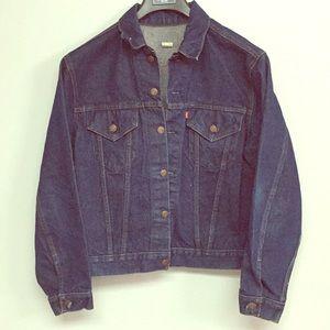 Vintage Levi's Type III dark wash trucker jacket
